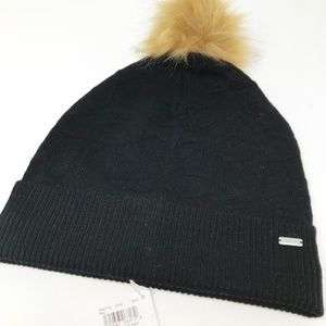 Coach Black Knit Hat